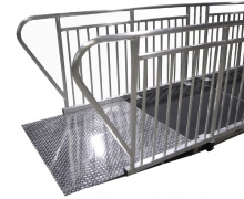 ADA Starter Ramp Guardrail