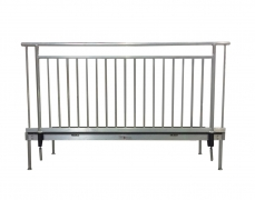 8ft Aluminum ADA Guardrail Attached to Stage Deck