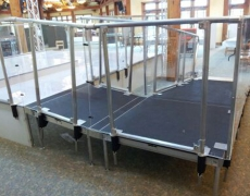 Custom Clear Plexi Guardrail System