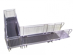 "4ft Wide x 24ft Long ""L"" Shaped Portable ADA Ramp"