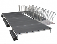 4' x 16' ADA Ramp Attached to Stage