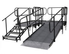 Custom Ramp & 4 Step Adjustable Stair Unit