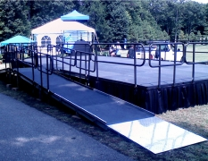 4' Wide x 24' Long Straight Equipment Ramp with 4' x 4' Mid & Top Landings