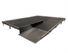 4' Wide x 12' Long Straight Equipment Ramp with 4' x 4' Top Landing