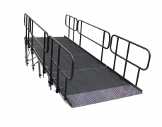 "52"" Wide x 13' Long Straight Equipment Ramp with 1' x 4' Starter Ramp"