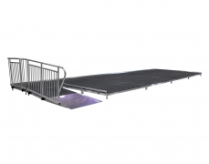 Ramp w/ ADA Guardrail attached to Stage
