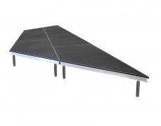 "Trapezoidal Stage w/ 16""-24"" Adjustable Legs"