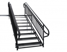 9 Step Adjustable Stair Unit w/ Custom Handrails
