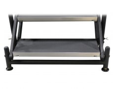 Adjustable Stair Base with Leveling Foot Pads - Front View