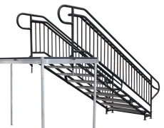 9 Step Adjustable Stair Unit Back View