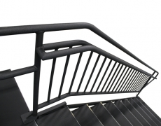 9 Step Adjustable Stair Unit Top View