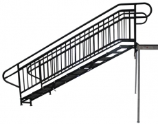 9 Step Adjustable Stair Unit Side View