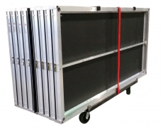 8-Deck Vertical Cart With Ratchet Strap