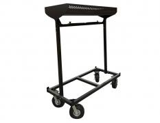 "Vertical Cart w/ 10"" Foam Filled Casters & Storage Basket"