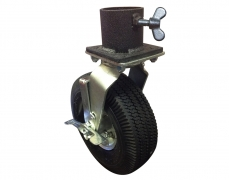 "10"" Pneumatic Tire & Single Caster Pot"