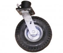 Single Caster Pot With 10 inch Pneumatic Tire