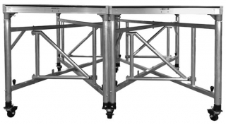 8 ft x 8 ft Riser On Wunderstructures With Caster Pots