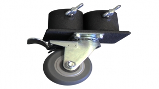 "4"" Locking Caster & Double Caster Pot"