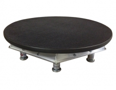 "30"" Round Black Carpeted Stage Deck"