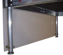 "24"" H x 8' L Milk Plexi Closure Panel"