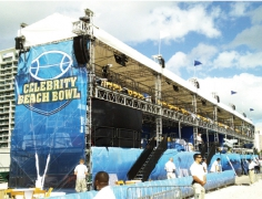 2-Story VIP Structure for Celebrity Beach Bowl 2010 By Light Action