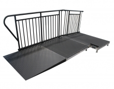 4' x 4' Black Powder Coated Diamond Plate Ramp