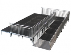4ft x 8ft Diamond Plate Starter Ramp