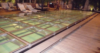 Custom Pool Cover Stair System