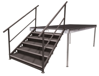 5 Step Fixed Stair Unit with Closure Panels