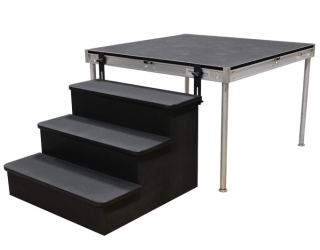 3 Step Stair BoxAttached to Stage Deck