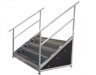 4 Step Free Standing Stair Unit with Front & Side Closure Panels
