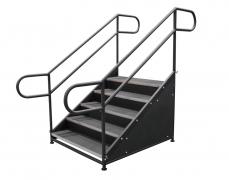 5 Step Free Standing Stair Unit with Front & Side Closure Panels