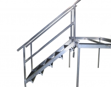 5 Step Fixed Height Aluminum Stair Unit