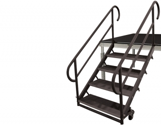 4 Step Fixed Height Stair Unit with Casters