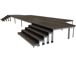 4 Step Stage Deck Stair System