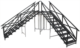 10 Step Fixed Height Stair Unit with Custom Handrails