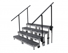 4 Step Stage Deck Free Standing Stair Unit
