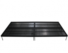 Black Powder Coated  Grated Aluminum Stage