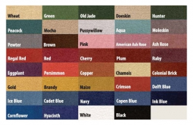 Showtex & Velour Color Options