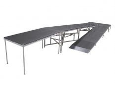 "4' Wide x 45' Long ""U"" Equipment Ramp with 4' x 8' Mid & Top Landings"