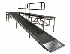 4' Wide x 22' Long Straight Equipment Ramp