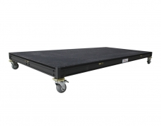 "Black Carpeted Rolling Riser w/ 4"" Locking Casters"