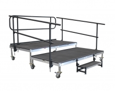 8' x 8' 2 Tiered Rolling Riser