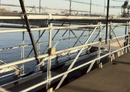 12ft x 52ft Quad Layher Scaff Seawall Stag