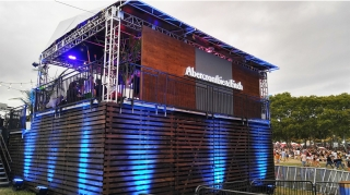 Custom Wood Stage Façade for Abercrombie & Fitch VIP Structure