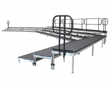 3 Tiered Riser with Standard Guardrail
