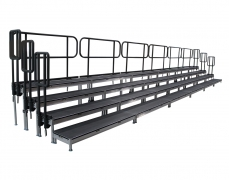 4 Tiered Riser with Guardrail