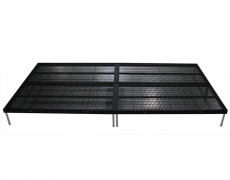 4ft x 8ft Black Powder Coated Grated Aluminum Deckswith Fixed Height Legs