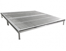 4ft x 8ft Grated Aluminum Decks with Fixed Height Legs