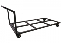 Empty Flat Deck Cart with Locking 6in Casters